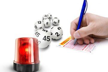 Lottoschein und roter Alarm