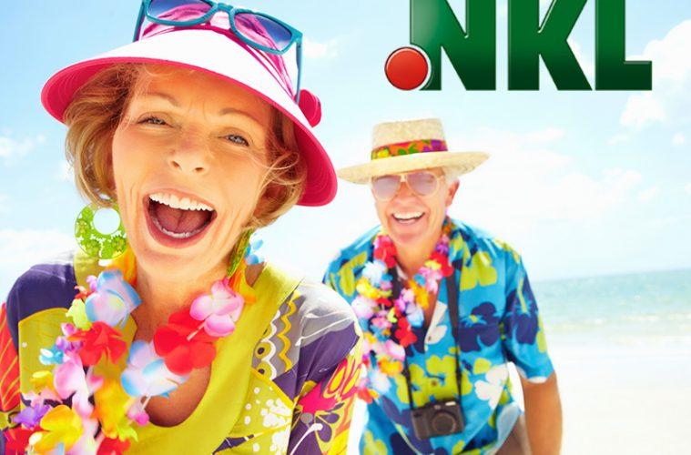 glückliche Personen im Urlaub