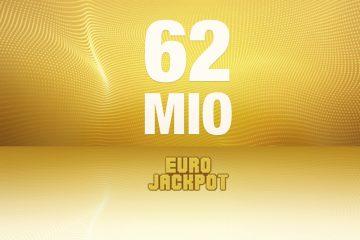 EuroJackpot 62 Millionen
