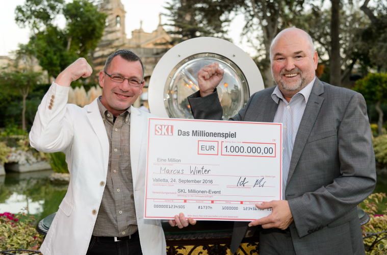 Marcus Winter freut sich über SKL Millionengewinn
