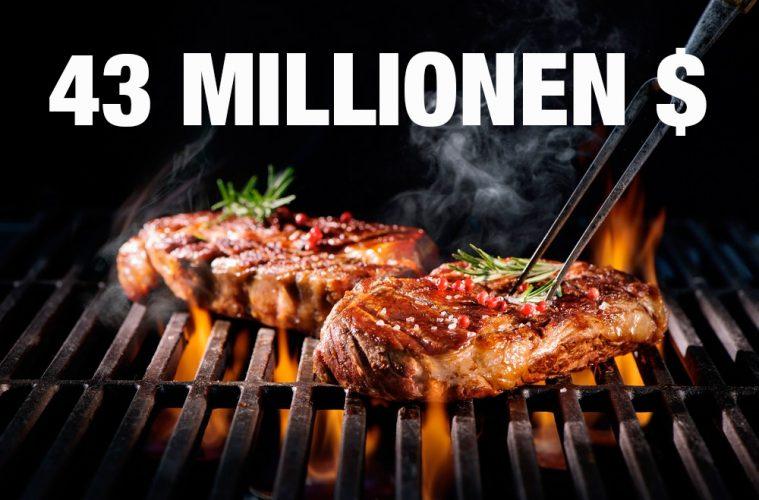 43 Mio US Dollar für ein Steak
