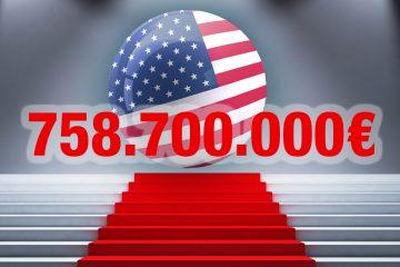 Jackpot in Höhe von 758.709.000