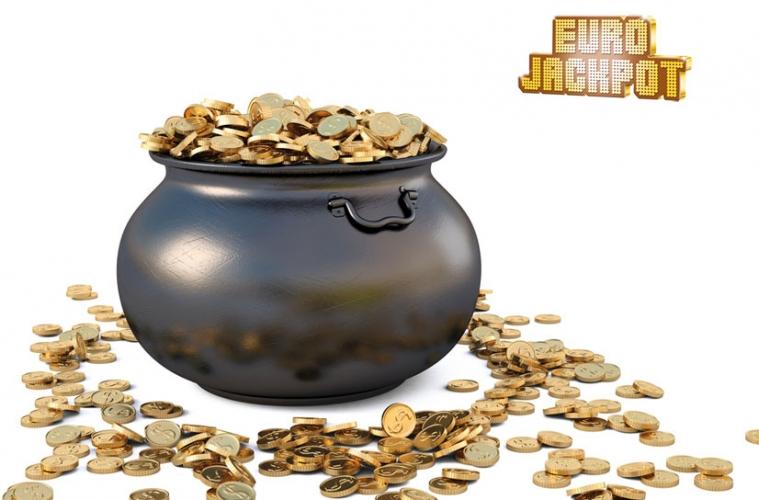 Geldtopf Kessel mit Geldmünzen