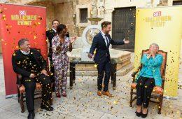 Eric Schroth und Motsi Mabuse mit SKL-Millionärin Dagmar Schompeter-Munz beim SKL-Millionen-Event auf Mallorca