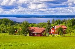 Holzhäuser in Schweden