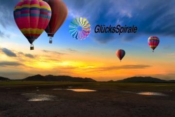 Heißluftballon im Himmel Glücksspirale