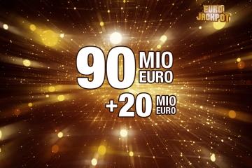 Goldener Glitzer Euro Jackpot