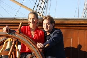 Tanja Wedhorn und Thomas Heinze beim SKL-Millionen-Event