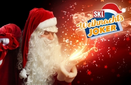 Weihnachtsmann verbreitet Weihnachtszauber