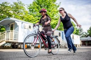 Fahrradtraining für geflüchtete Frauen in Deutschland