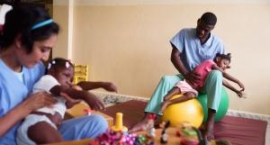 Physiotherapie für Kinder mit Behinderung in Haiti
