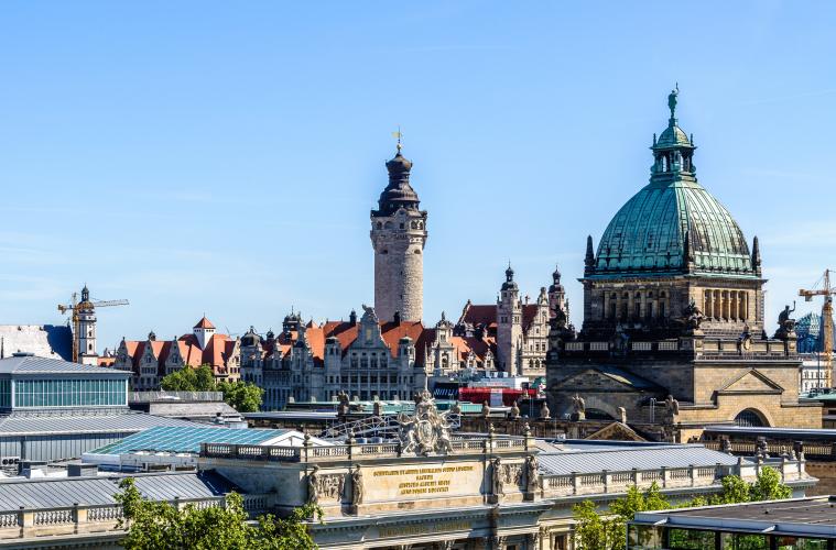 Leipzig Blick auf die Stadt