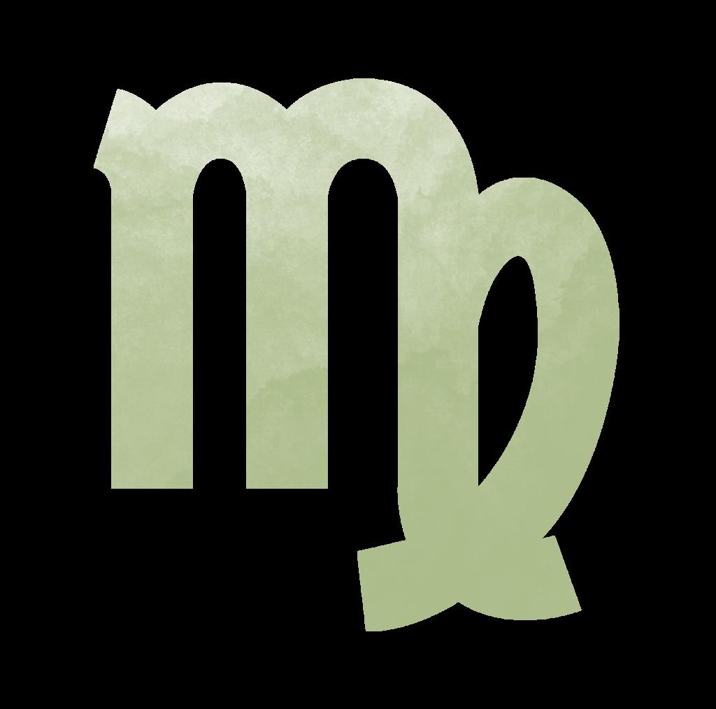 Sternzeichen Symbol Jungfrau in grün
