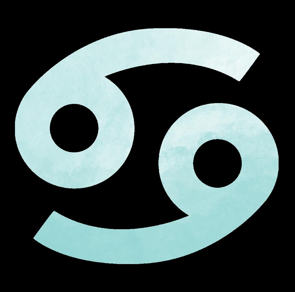 Sternzeichen Symbol Krebs in türkis Horoskop