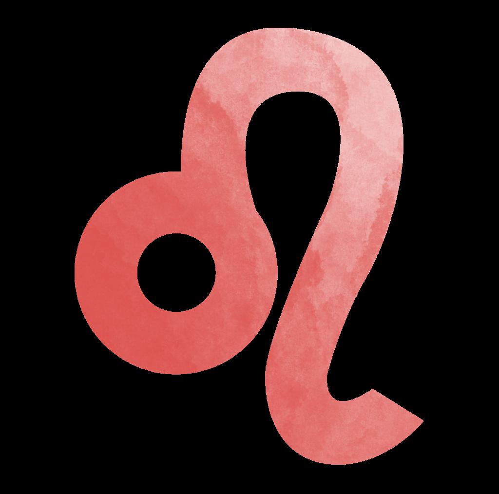 Sternzeichen Symbol Löwe in rot Horoskop