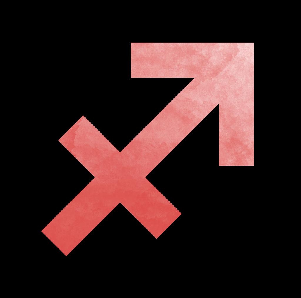 Sternzeichen Symbol Schütz in rot Horoskop