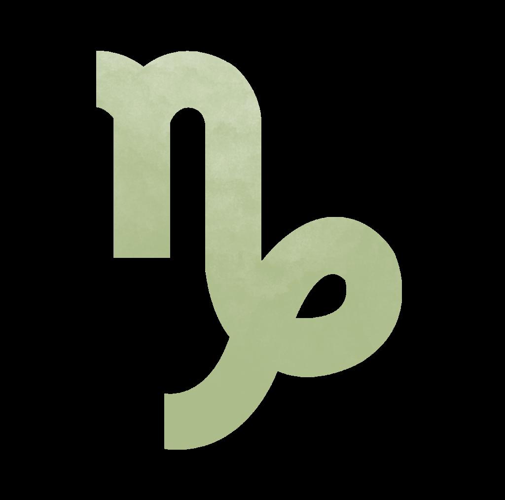 Sternzeichen Symbol Steinbock in grün Horoskop