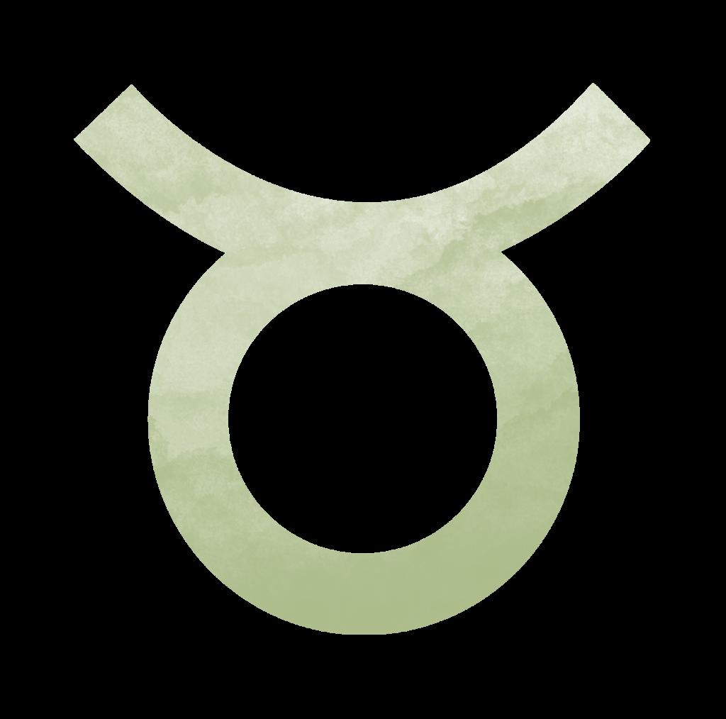 Sternzeichen Symbol Stier in grün.