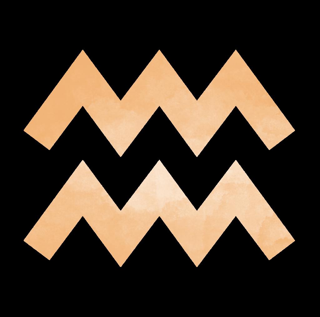 Sternzeichen Symbol Wassermann in orange