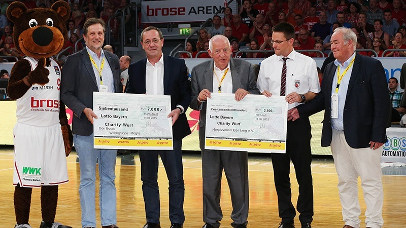 Lotto Bayern Spendenwurf Brose Baskets