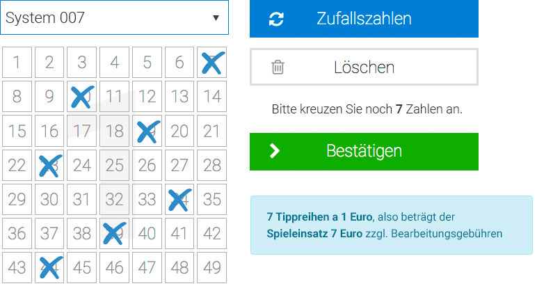 Lotto Systemschein 007